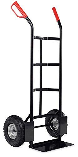 Stagecaptain Carryboy Sackkarre (Transportkarre, Stapelkarre, Stabiler Metallrahmen, Luftreifen mit ca. 27 cm Durchmesser, Robuste Sicherheits-Haltegriffe, Belastbar bis 200 kg) schwarz