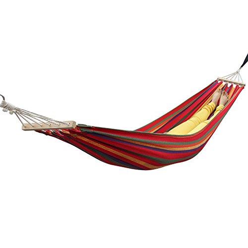 Outdoor Reise-Hängematte Ultra-light 2*0.8m Matte 150kg Belastbarkeit Set mit Befestigung für Reise, Camping, Garten, Trekking, Strand, Travel-Hammock