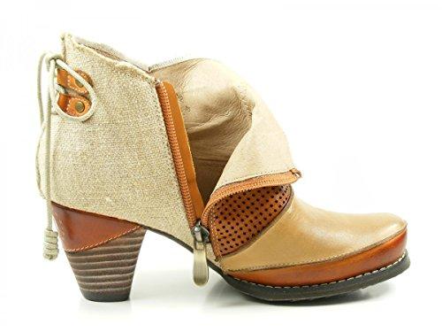 Manitu 961694, Stivali da Cowboy Donna Beige