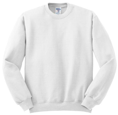 Hockey Symbol auf American Apparel Fine Jersey Shirt Weiß
