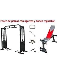 Grupo Contact - Cruce de poleas, 4 agarres, 1 banco regulable HG021 Código: