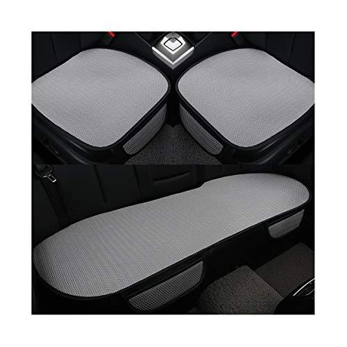 GUOCU Auto-Sitzkissen, Sommer-Auto-Sitz-Kissen-einzelne Auflage-EIS-Seide-Quadrat-Auflage Backless Universal Anti-Rutsch-freies, das Sitz-Kissen bindet,Grau,Rücksitz