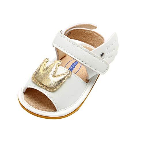LILIHOT Kronen-Klett-Baby-Kleinkind-Schuhe Schuhe für Mädchen Kleinkinder glänzend Lackschuhe mit Schleife in spanischem Stil für Party Hochzeit Rutschfeste ()