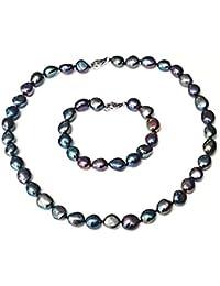 1b4c2c13baac Amazon.es  Collar Perlas Negras - TreasureBay  Joyería