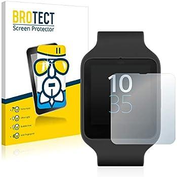 BROTECT Protection Ecran Verre pour Sony Smartwatch 3 SWR50 - Protecteur Vitre 9H, AirGlass