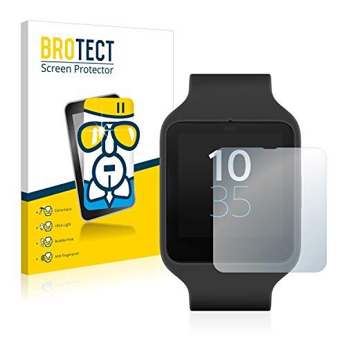BROTECT Panzerglas Schutzfolie kompatibel mit Sony Smartwatch 3 SWR50 - Flexibles Airglass, 9H Härte