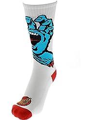 Chaussettes Santa Cruz – Screaming Hand blanc taille: OSFA (Taille pour tout)