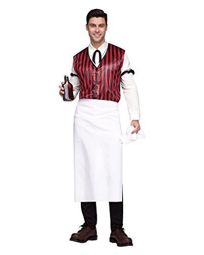 Wild West Saloon Barkeeper Kellner Kostüm für Herren One Size