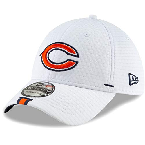New Era - NFL Chicago Bears On Field 2019 Training 39Thirty Cap - Weiß Größe M-L -