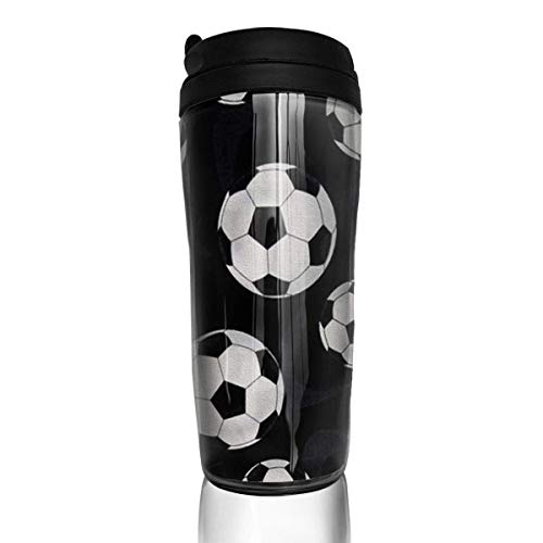 Travel Coffee Mug Football 12 Oz Spill Proof Flip Lid Water Bottle Environmental Protection Material ABS
