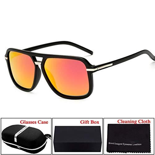 Taiyangcheng Hd polarisierte Sonnenbrille Fall Box für männer Frauen Spiegel Fahren Brille,Schwarz Rot