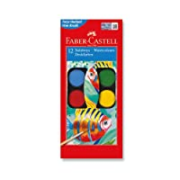 Faber-Castell 5292125012 Suluboya, 12 Renk, Büyük Boy