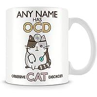 Cat Mug - Personalised Mug Gift - Add Name and Text