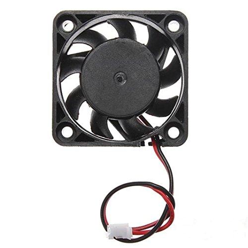 Hunpta 12V 2 Pin 40mm Computer Kühler kleine Kühlung Lüfter PC schwarz F Kühlkörper (Schwarz)