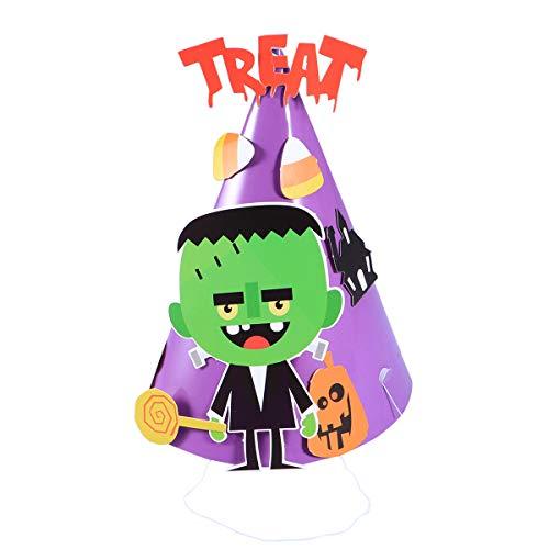 Kegel Halloween Kostüm - BESTOYARD Halloween Kegel Hüte Frankenstein Papier für Kinder Party Kostüme