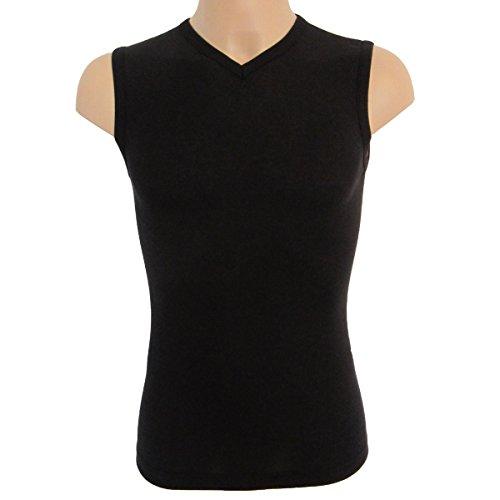 2x 63050canottiera uomo Athletic Vest by exclusiv HERMKO funzione Muskelshirt con scollo a V grafite