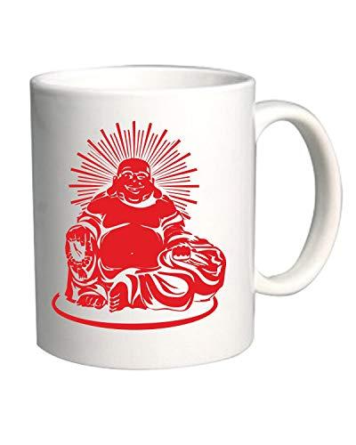 T-Shirtshock Tazza 11oz Bianca FUN0261 Big Happy Buddha