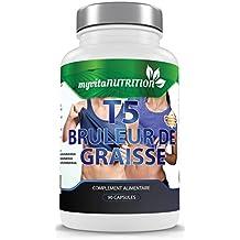 T5 Brûleur de Graisse - Cure de 1,5 Mois / 90 Comprimés - Pilules Amincissantes Ultra Puissante - Résultats garantis