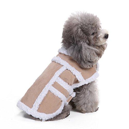 selmai winddicht Dick Kleiner Hund Katze Schneeanzug Warm Pet Puppy Winter Fell Weste Jacke kaltem Wetter Hund Kleidung Bekleidung -