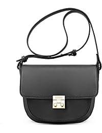 ECOSUSI Women Crossbody Saddle Bags Shoulder Purse with Flap Top & Phone Pocket