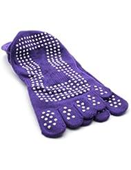 Nouveau Gym Sport exercice de yoga chaussette antidérapant en coton Purple