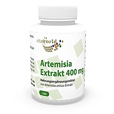 Artemisia annua extract 400mg 100 Capsules (sweet wormwood, artemisinin) Made in Germany from Vita World