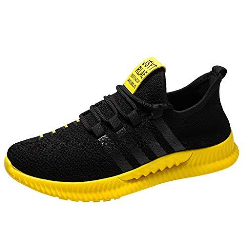 TUDUZ Lover gestrickte Socken Atmungsaktive mittelhohe Canvas-Freizeitschuhe Unisex-Erwachsene Classic Low-Top Sneaker Water Shoes Schuhe für alle Wassersportarten(Gelb,41EU)
