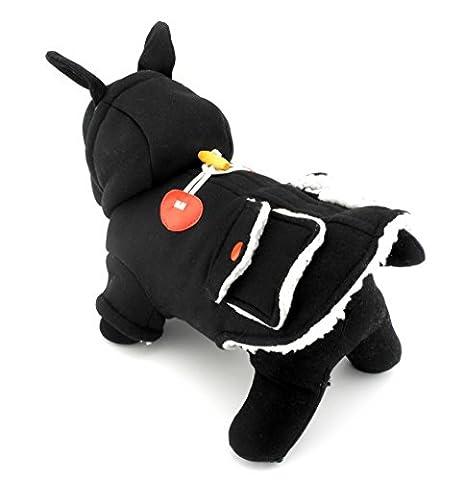 ranphy Kleine Haustier Kleidung für Hunde Katzen British Style mit Kapuze Horn Button Dufflecoat Jacke Kleidung