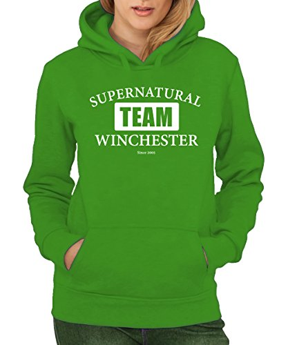 -- Team Winchester -- Girls Hoody Grün