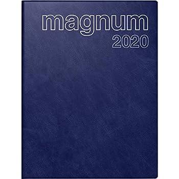 grau rido//id/é 702708380 Buchkalender magnum 2 Seiten = 1 Woche, 183 x 240 mm, Kunststoff-Einband Reflection, Kalendarium 2020