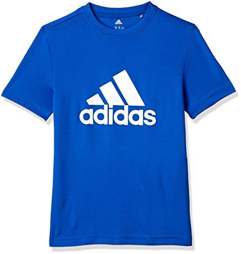 adidas YB GU Tee T-shirt für Junge, Blau (Blau / Weiß), 164