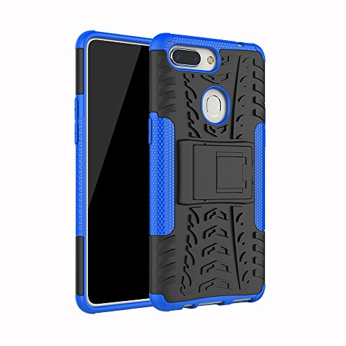 Oppo R15 Case, Happon DealMaster [Ultra Slim]Protective Case Cover Premium Shock Absorption Bumper and Anti-Scratch Back Case for Oppo R15 (Blue)