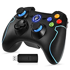 EasySMX PC Joystick, 2.4G Wireless PS3 Gamepad Gaming Controller, Dual Shock, Turbo f¨¹r PS3 / Android Handy/Tablet/PC/TV oder TV-Box