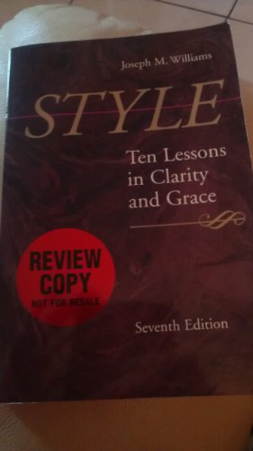 Joseph m Williams [Paperback] by Style Edition: first