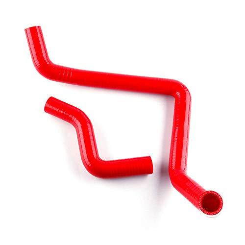 FidgetGear Silikon-Kühlerschlauch für Honda Civic D15 D16 EG EK 92-00 93 94 95 96 97 98, Rot