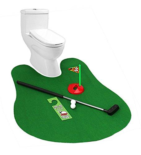 JUYUAN-EU Toiletten Golf Set Mini für das Badezimmer - Golfsport auf dem WC und Klo Bathroom - Potty Putter (Wc-golf-spiel)