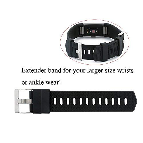 Fit-power Band Extender for Fitbit Charge 2 Band - For larger sized wrists  or ankle wear