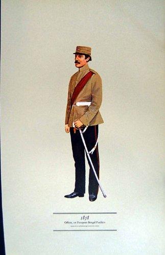 Armee-Uniform-Offizier-Europäer 1970 Bengal Fusiliers