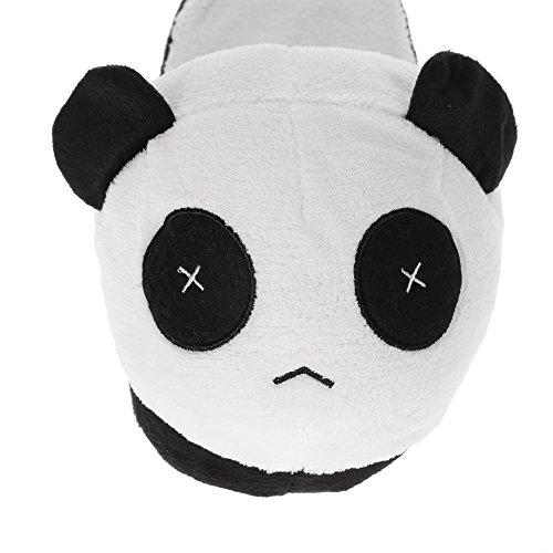Anself Chaussons homme Cotons Panda Doux en Peluche Hiver Chaud Chaussons Blanc/Noir - Taille unique Panda 5# Herren