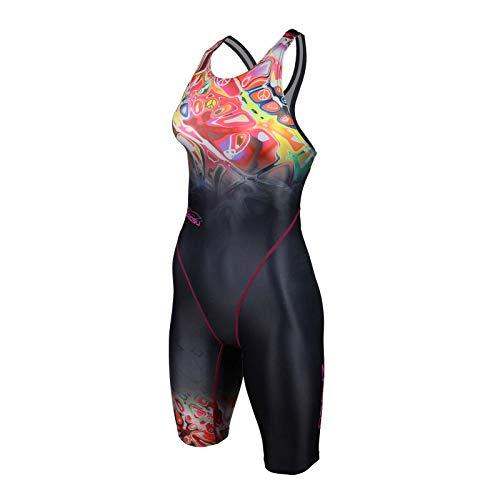 ZAOSU Damen & Mädchen Wettkampf-Schwimmanzug Z-Peace | Sport Badeanzug mit Bein, Größe:164