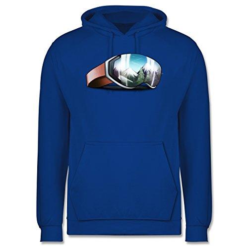 Wintersport - Skibrille - Männer Premium Kapuzenpullover / Hoodie Royalblau