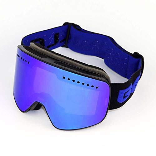 JXS-Goggles 2-Layer Magnet Ski-Brillen, Reitschichten, Anti-Nebel und Anti-Glare Anti-Stun können für Myopia-Gläser verwendet Werden,D