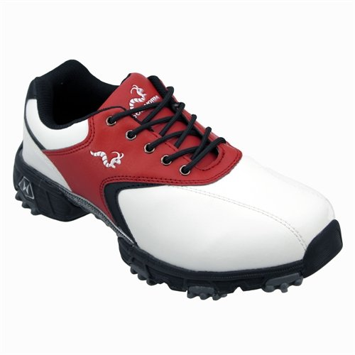 Woodworm Golf Junior Golf Shoes WHITE/RED Size 5