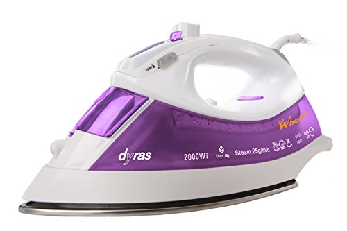 dyras® ''Whaleo'' Dampfbügeleisen mit Keramiksohle und LCD-Anzeige für digitale Temperatureinstellung