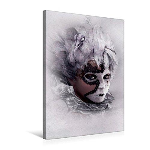 Premium Textil-Leinwand 50 cm x 75 cm hoch, Hinter der Maske | Wandbild, Bild auf Keilrahmen, Fertigbild auf echter Leinwand, Leinwanddruck (CALVENDO (Feen Maske)