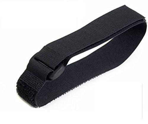 Lot de 5-Noir-avec crochet et boucle attache-câble en réutilisables sangles 2,5 cm X 30 cm, noir, 10 pièces