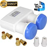 HD-LINE Monoblock Twin Lnb Gold Edition - 2 Fach Twin Lnb ,...