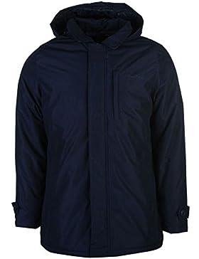 Pierre Cardin Mac con capucha chaqueta para hombre azul marino chaquetas abrigos Outerwear, azul marino, mediano