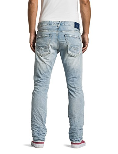 Replay Herren Straight Leg Jeans Waitom Blau (Blue Denim 10)