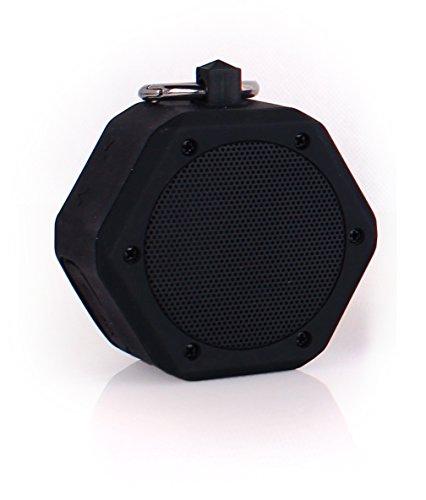 YunMei beweglicher mini drahtloser Bluetooth Stereolautsprecher, vielzweckiger wasserdichter im Freien- / Dusche-Lautsprecher, mit 3W StereoBluetooth Lautsprecher BB-120 (schwarz)